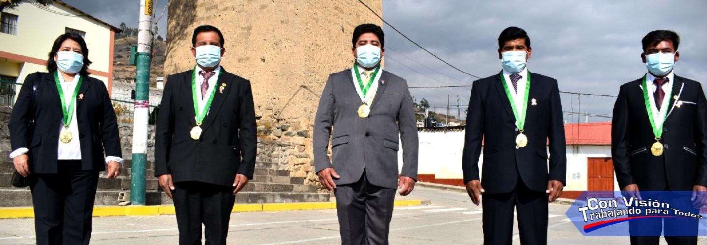 PROTOCOLOS SANITARIOS, AUTORIDADES DEL DISTRITO DE CURAHUASI PARTICIPARON EN LA CEREMONIA OFICIAL POR FIESTAS PATRIAS