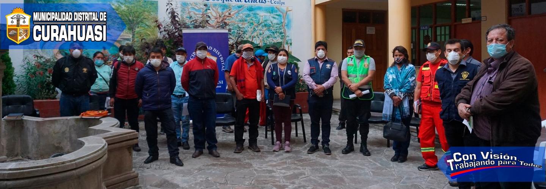 ALCALDE DEL GOBIERNO MUNICIPAL DE CURAHUASI Y PRESIDENTE DEL CODISEC PRESIDIÓ REUNIÓN DE AUTORIDADES Y SOCIEDAD CIVIL